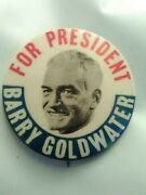 Vtg 1964 Barry Goldwater For President 1 1/2 Presidential Campaign Button Pin