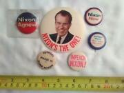 Vintage Nixon Agnew Campaign Button Collection Lot Of 6 Nice         Sw