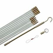 Fiberglass Fish Tape Cable Rods Stick Wire Running Kit Connectable Puller Push And