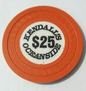 Kendalls Oceanside Casino Russia 25.00 Chip Great For Any Collection