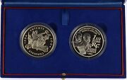 2004 Entente Cordial 2 Coin Silver Proof Set - Complete