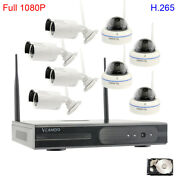 Wireless1080p Home Cctv Surveillance Phone Security Camera System With Hdd H.265