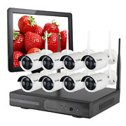 8 Bullet Wireless Security Camera System Home Surveillance W/ 1tb Hdd15 Monitor