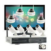 Cctv 1080p Wireless Security Camera System With Hdd And Screen 21.5 Hdmi Monitor