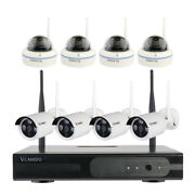 Outdoor Wireless Business Surveillance 8 Channel Security Camera System 1tb Hdd