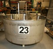 200 Gallon Portable Round Column Dump Totes Stainless Steel On Wheels Loos
