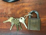 Yale And Towne Mfg Co, Pin Tumbler Brass Padlock And Key