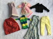 Old Barbie Clothes 7 Pieces Possibly Homemade
