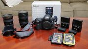Canon Eos 5d Mark Iii Bundle - 2 Lenses 2 Batteries 6 Flash Cards With Case