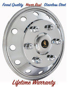 16 Ford Transit Stainless Wheel Simulator Hubcap Rim Liner Cover One Snap On Andcopy