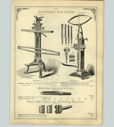 1890 Paper Ad Barnesand039 Steptoeand039s Mortising Machine Pedal Power Lathe Velocipede