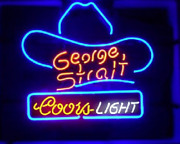 New Coors George Strait Hat Neon Light Sign 20x16 Beer Cave Gift Lamp