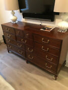 Used Hickory White Dresser, Finish 42 Cognac 2741 New Ask 1500