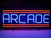 New Red Arcade Neon Light Sign 14x10 Beer Cave Real Glass