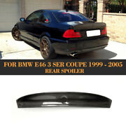 Carbon Fiber Rear Spoiler Tail Trunk Boot Lip Wing Bar Fit For Bmw E46 Coupe 99+