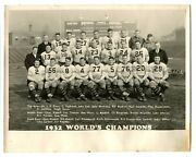 1932 Chicago Bears Champions Team Type 1 Photo W/ George Burke Stamp On The Back