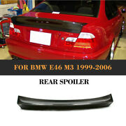 Carbon Fiber Rear Spoiler Tail Trunk Boot Lip Wing Bar Fit For Bmw E46 1999-2006