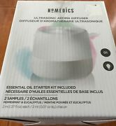 Homedics Color Changing Light Ultrasonic Aroma Diffuser W / Essential Oil Kit