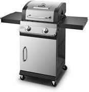 Dyna-glo Premier Propane Gas Grill 2-burner Built-in Thermometer Stainless Steel
