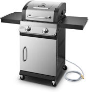 Dyna-glo Premier Natural Gas Grill 2-burner Built-in Thermometer Stainless Steel