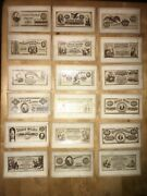 Complete Naramore Counterfeit Detector Set Of 18 Cards With Partial Box 1866