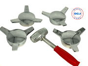 3 Bar Smooth Straight Chrome Knock-off Spinner And Hammer For Lowrider Wire Wheels