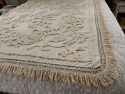 Authentic 1826 Colonial Chenille Bedspread - Historical Hand Loomed