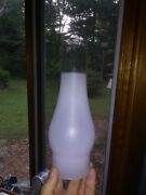 10 Frosted Glass Chimney Hurricane Oil Lamp Shade Replacement Globe 3 Fitter