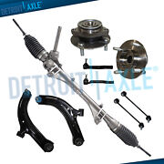 For 2007-2010 Nissan Versa 9pc Electrical Rack And Pinion Wheel Bearing Suspension