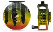 Abel Sds Sealed Drag Salt 9/10 Weight Fly Reel In Peacock Bass Free 100 Line