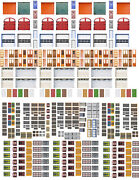 Windows And Doors Combo Pack Scenery Sheets For O Scale Model Train Layouts