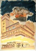 Larry Rivers Sky Music At Carnegie Hall Lithograph