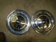 57 Chevy Hubcaps - 14 Inch - Good Condition