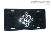 Personalized Crystallized Vanity Plate Car Bling Custom With Crystals