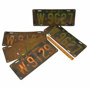 Vintage Nj License Plate Lot Of 5 New Jersey 1930s Plates 1934, 1936 And Pair 1937