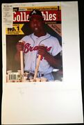 1/1 Hank Aaron Beckett Baseball July 1999 Cover Real Proof Editorand039s Final Copy