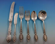 Guildhall By Reed And Barton Sterling Silver Flatware Set For 8 Service 48 Pcs