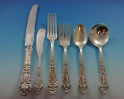 French Renaissance By Reed And Barton Sterling Silver Flatware Set 6 Service 38 Pc