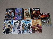 Lot Of 9 X-men Tpb Graphic Novels Ultimate Uncanny Prelude To Schism More