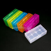 Lot Plastic Case Holder Box Hard Storage For 18650 16340 123a Battery