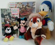Disney Puzzles Mickey Minnie Donald Duck Chip Chipmunk Stuffed Dolls Collectable