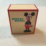 Disney Mickey Mouse Wind-up Tin Toy And Watch Set 70th Anniversary 2500 Limited