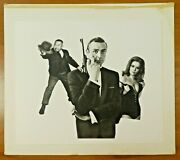 007 James Bond Gold Finger Sean Connery Original Photo Used For Poster Display