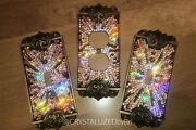 Custom Design Crystallized Switch Plate Cover Bling W/genuine Crystals Antique