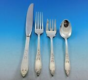Lady Claire By Stieff Sterling Silver Flatware Set For 6 Service 28 Pieces
