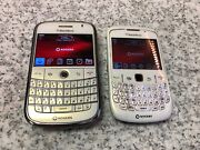2 Blackberry 9000 And 8520 White -rogers-free Ship