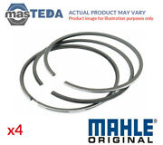 4x Mahle Engine Piston Ring Set 033 19 N0 G Std New Oe Replacement