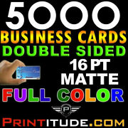 Custom Designed 5000 Full Color 16pt Thick Double Sided Matte Business Card