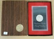 1973 S Uncirculated Eisenhower Proof Silver Dollar Ogp - 40 Silver - Brown Ikes