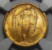 1926 Ngc Ms65 Sesquicentennial 2.50 Gold Commemorative
